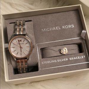 Michael Kors Women's Two-Tone Watch & Bracelet Set